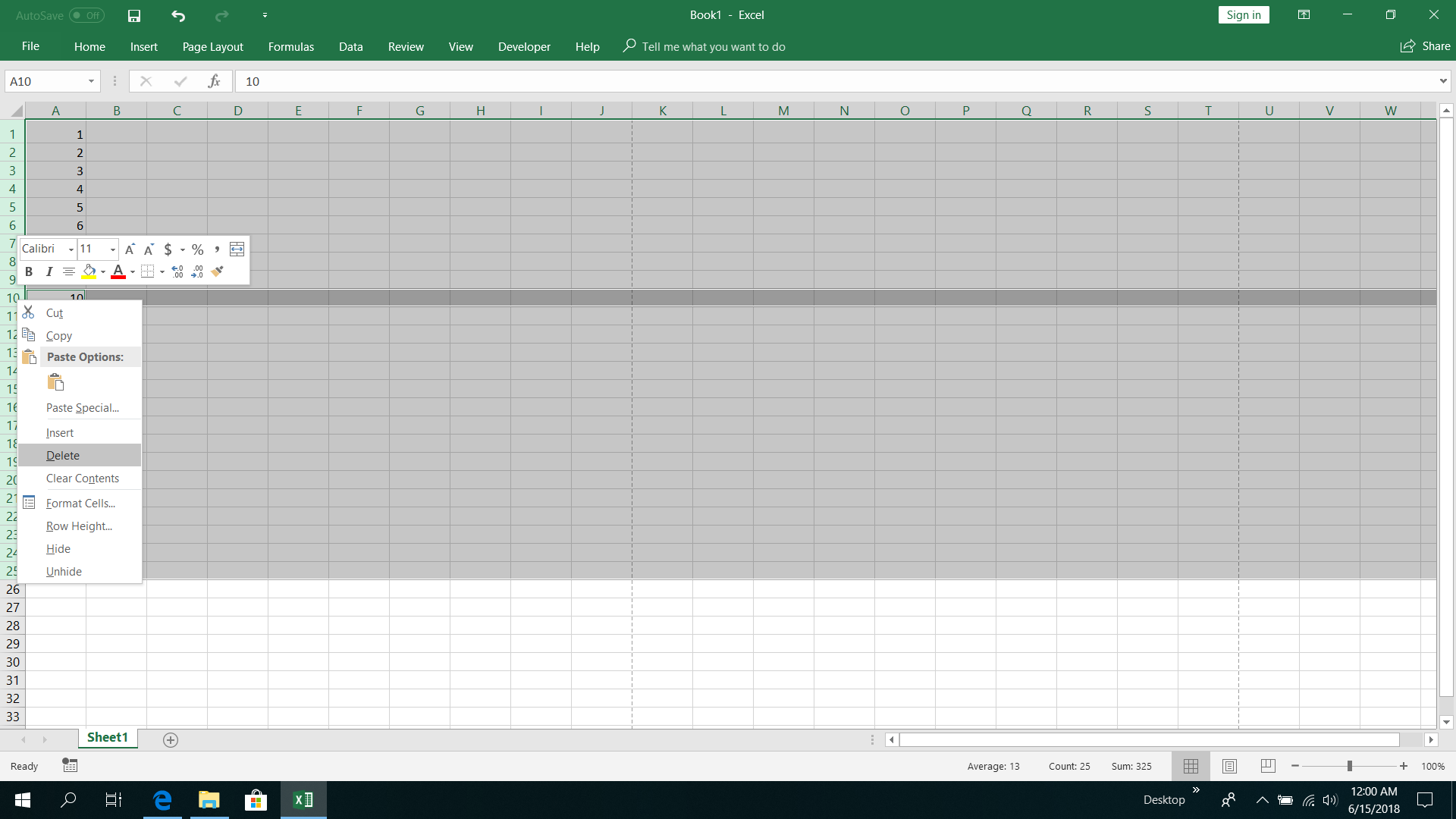How to deselect cells from selected ranges in Excel