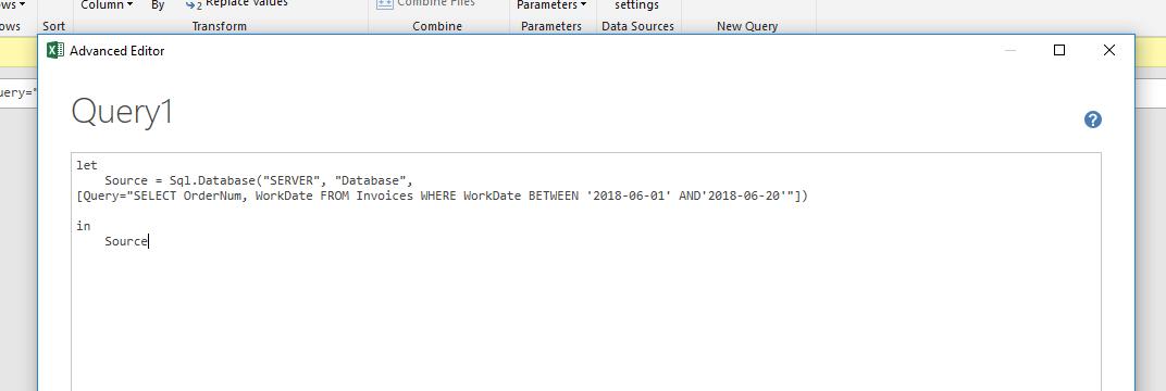 How do you do a parameter query when not using Microsoft