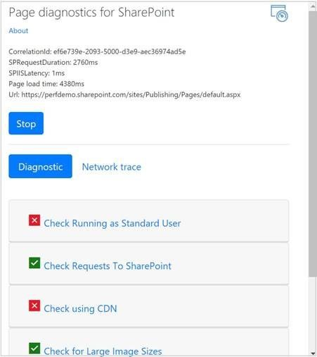 Announcing availability of the Page Diagnostics Tool for SharePoint
