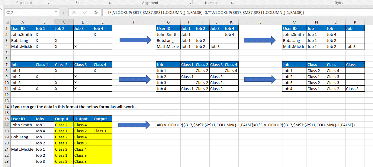 How to Return Column Data Based on All Populated Cells in Row Range