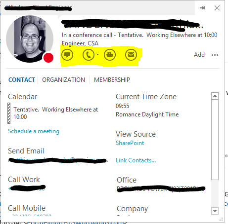 Skype For Business - Custom buttons and add-ins for SFB