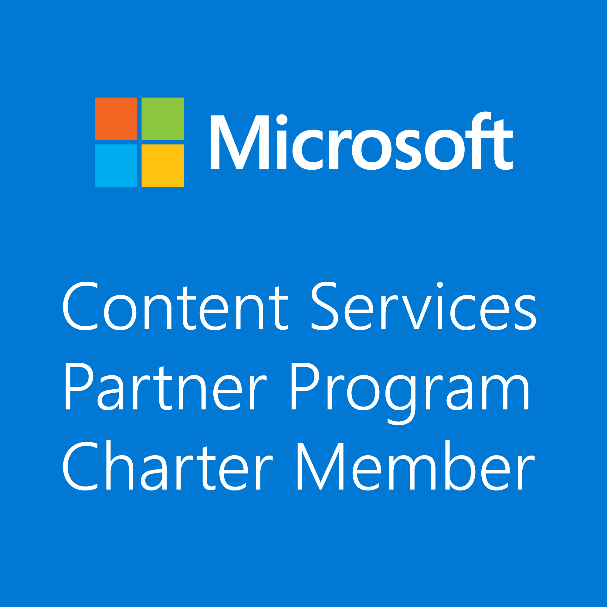 Announcing The Microsoft Content Services Partner Program And