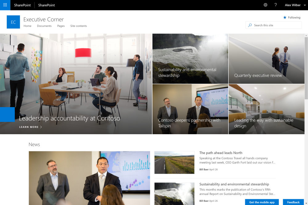 Communication site in SharePoint Server 2019