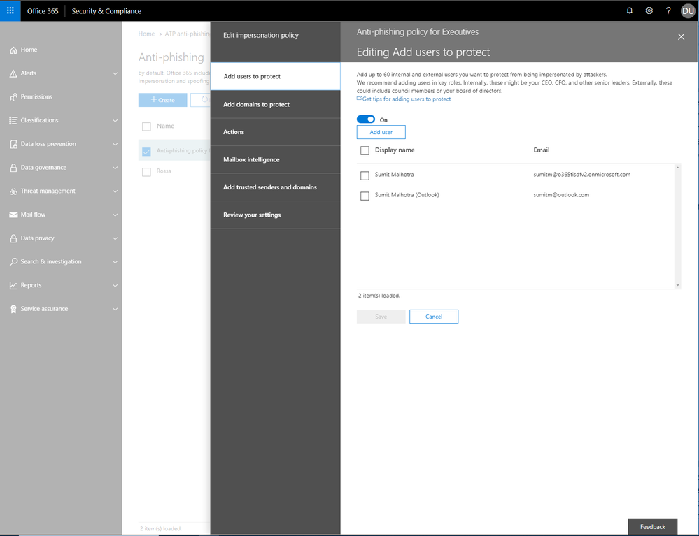 Enhancements to the Office 365 ATP admin experience