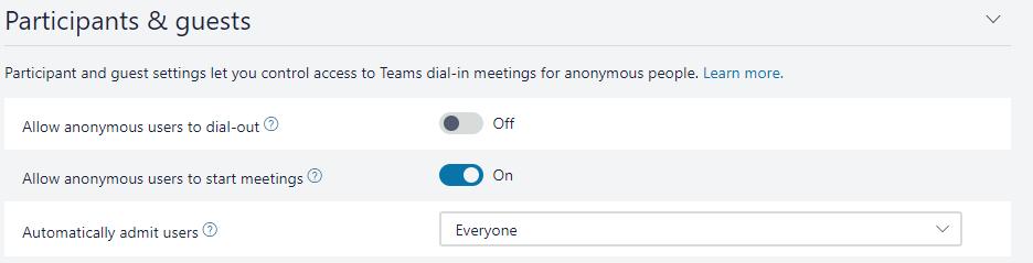 Teams Audio Conferencing Lobby - Microsoft Tech Community