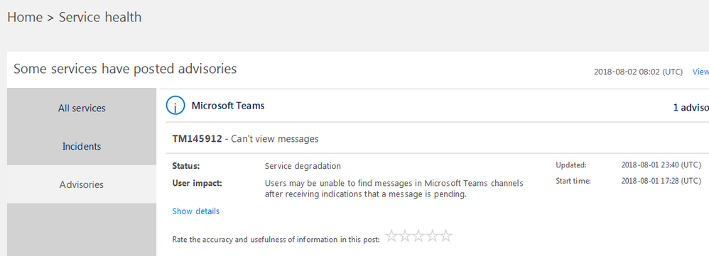 messages not showing up - Microsoft Tech Community - 144660