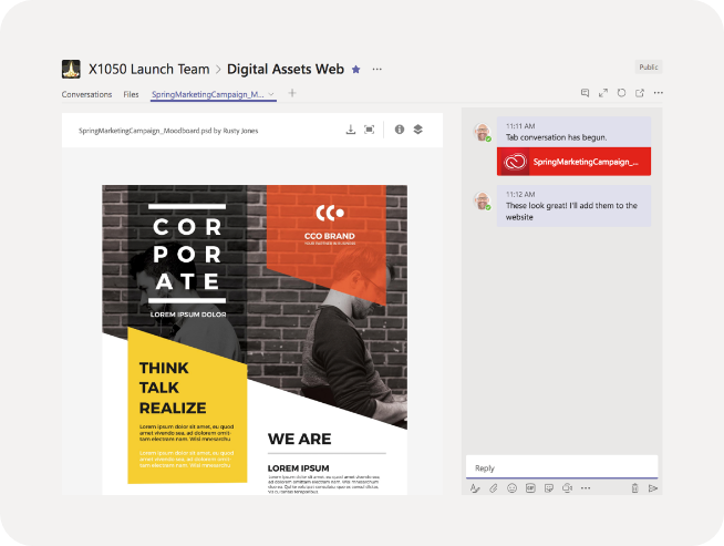 Microsoft Teams integration with Adobe XD