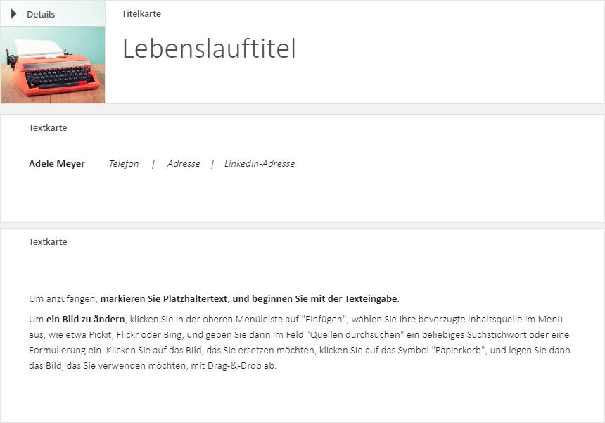 sway templates in german - resume writing samples - microsoft tech community