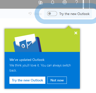 Office 365 new version of the Outlook on the Web - Nuno Árias Silva