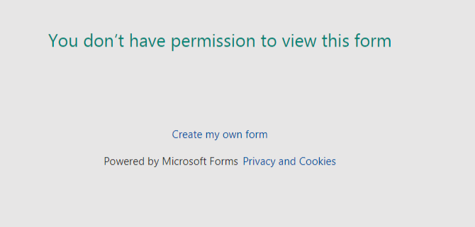 You Don T Have Permission To View This Form Selective