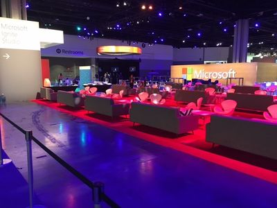 Community Lounge next to the Microsoft Tech Community area in Hall C.
