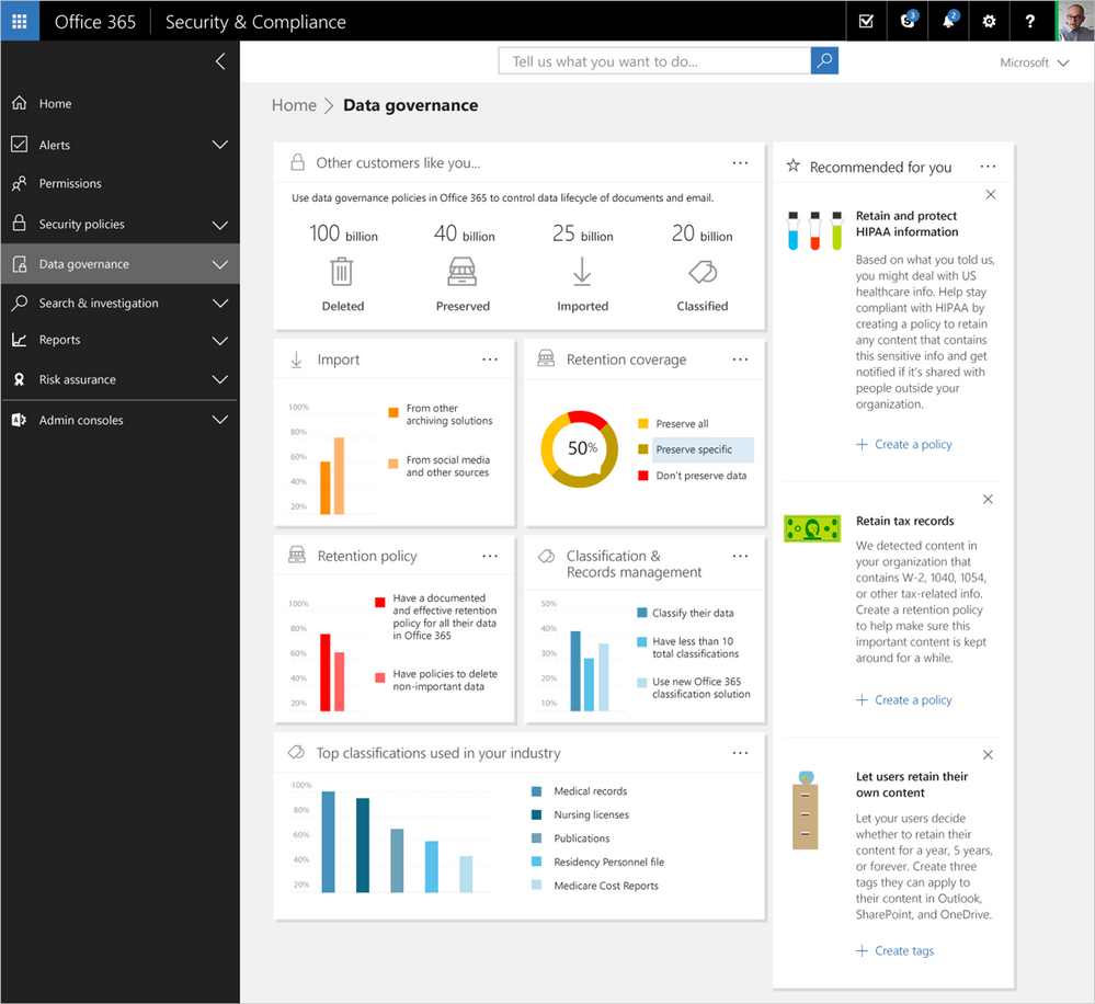 Office 365 security and compliance exchange online protection 02 - Applying Intelligence To Security And Compliance In Office