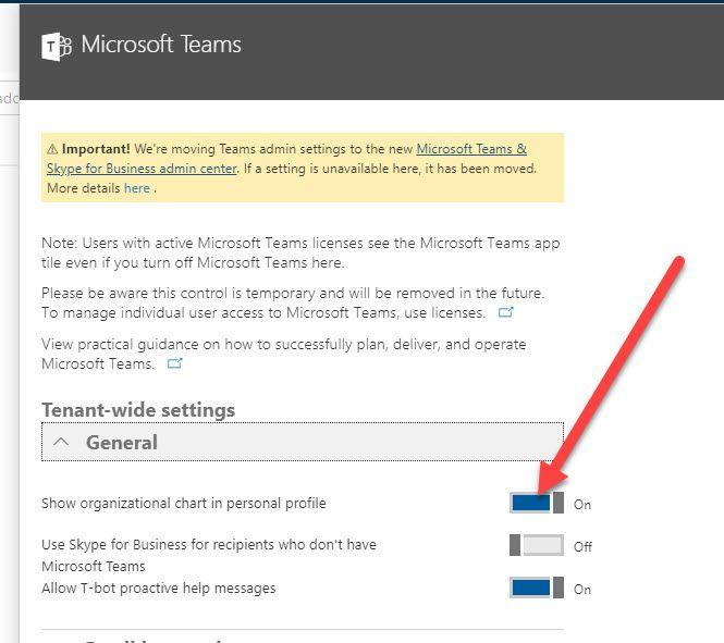 Organisation Chart in O365/ SharePoint - Microsoft Tech