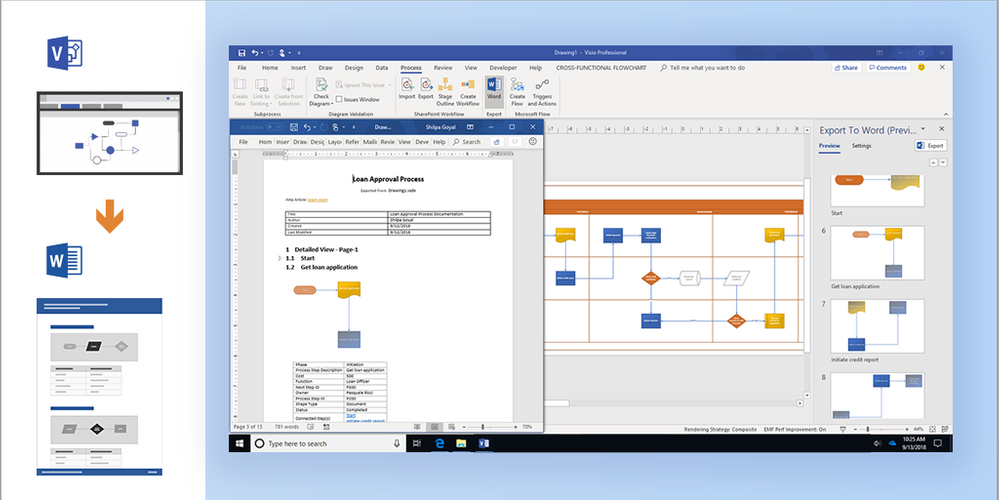 Automatically document visio process diagrams in microsoft word while visio is the perfect tool for modeling business processes people found it difficult to document those processes for communication auditing ccuart Choice Image