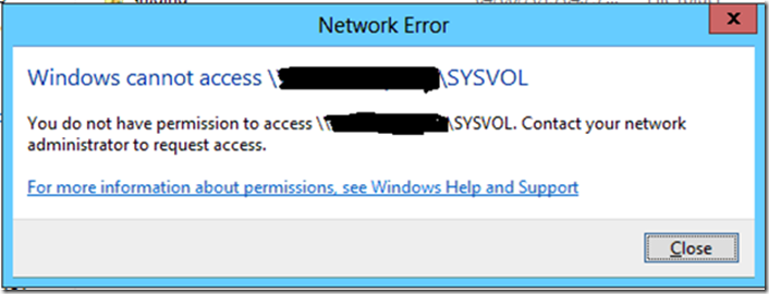 How to Fix Windows Server 2012 Shared Folder Inaccessible on
