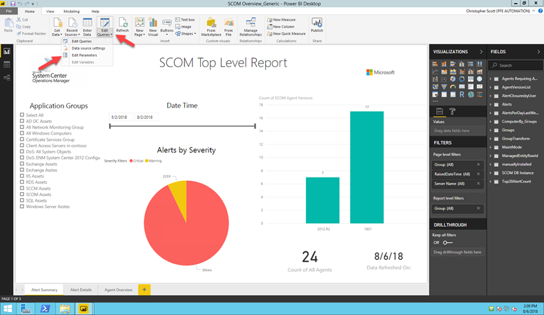 A New Tool for your Toolbox: SCOM Dashboard Report Template in PowerBI