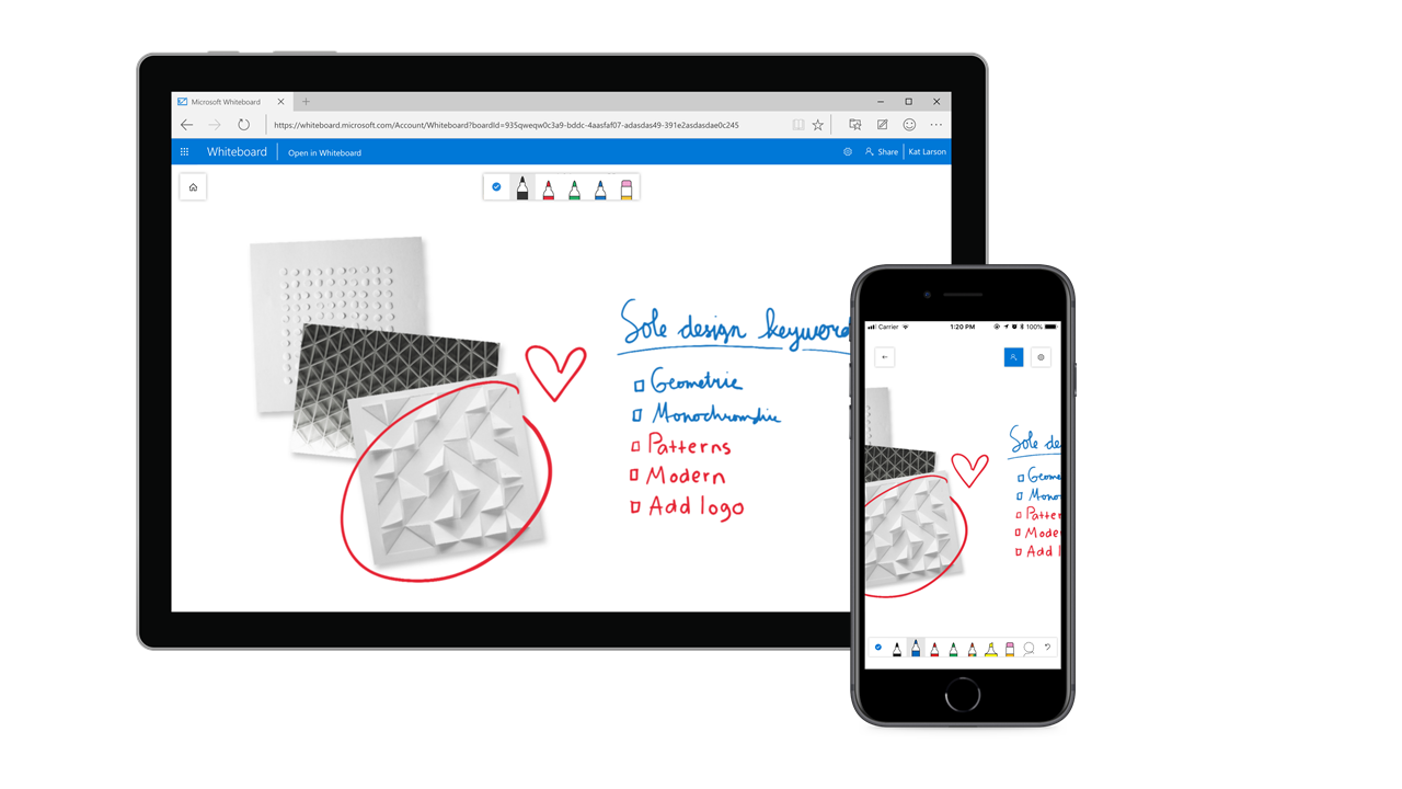 Microsoft Whiteboard is now available for more devices