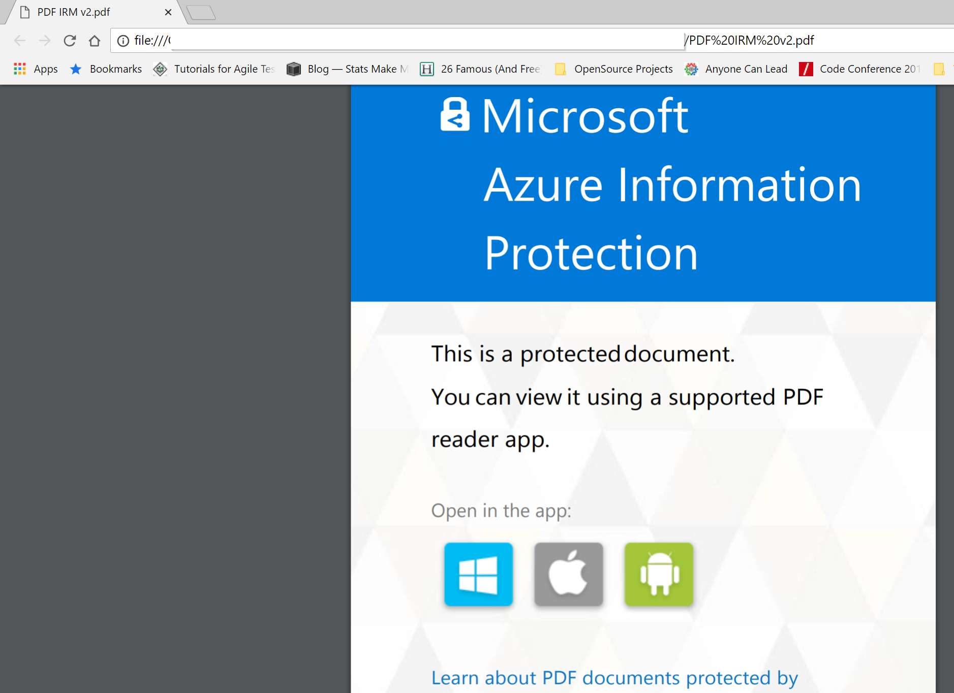 Starting Today! Use Adobe Acrobat Reader for PDFs protected by