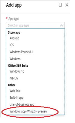 Sneak peek: Public preview of Win32 application deployment using