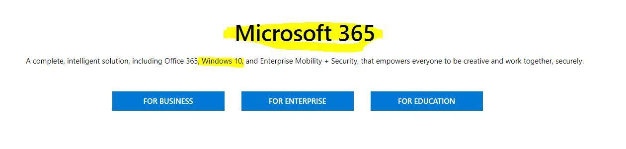 office 365 business windows 10 upgrade