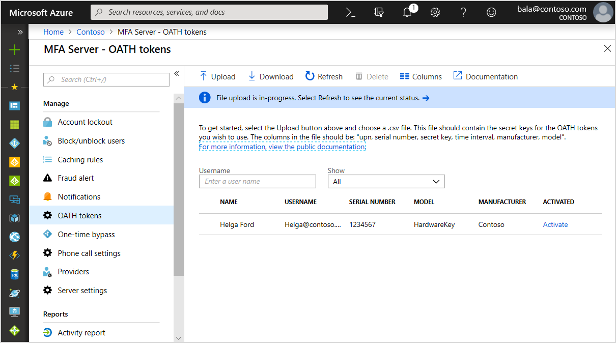 Hardware OATH tokens in Azure MFA in the cloud are now