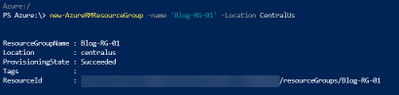 New-AzureRmResourceGroup -Name <Resource Group Name> -Location <Resource Location>