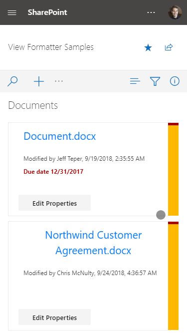New SharePoint view formatting samples now available - Microsoft