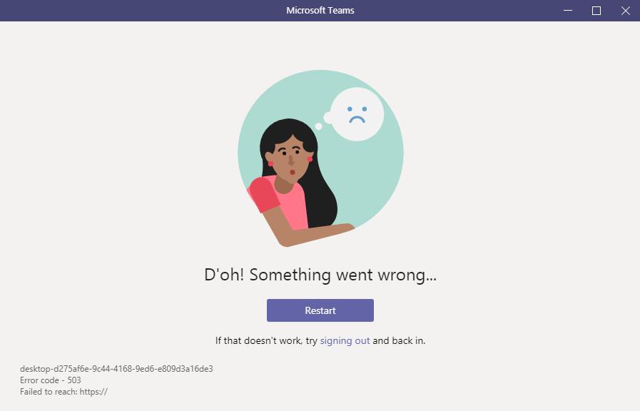 Cannot login to Microsoft Teams in desktop app or web ...