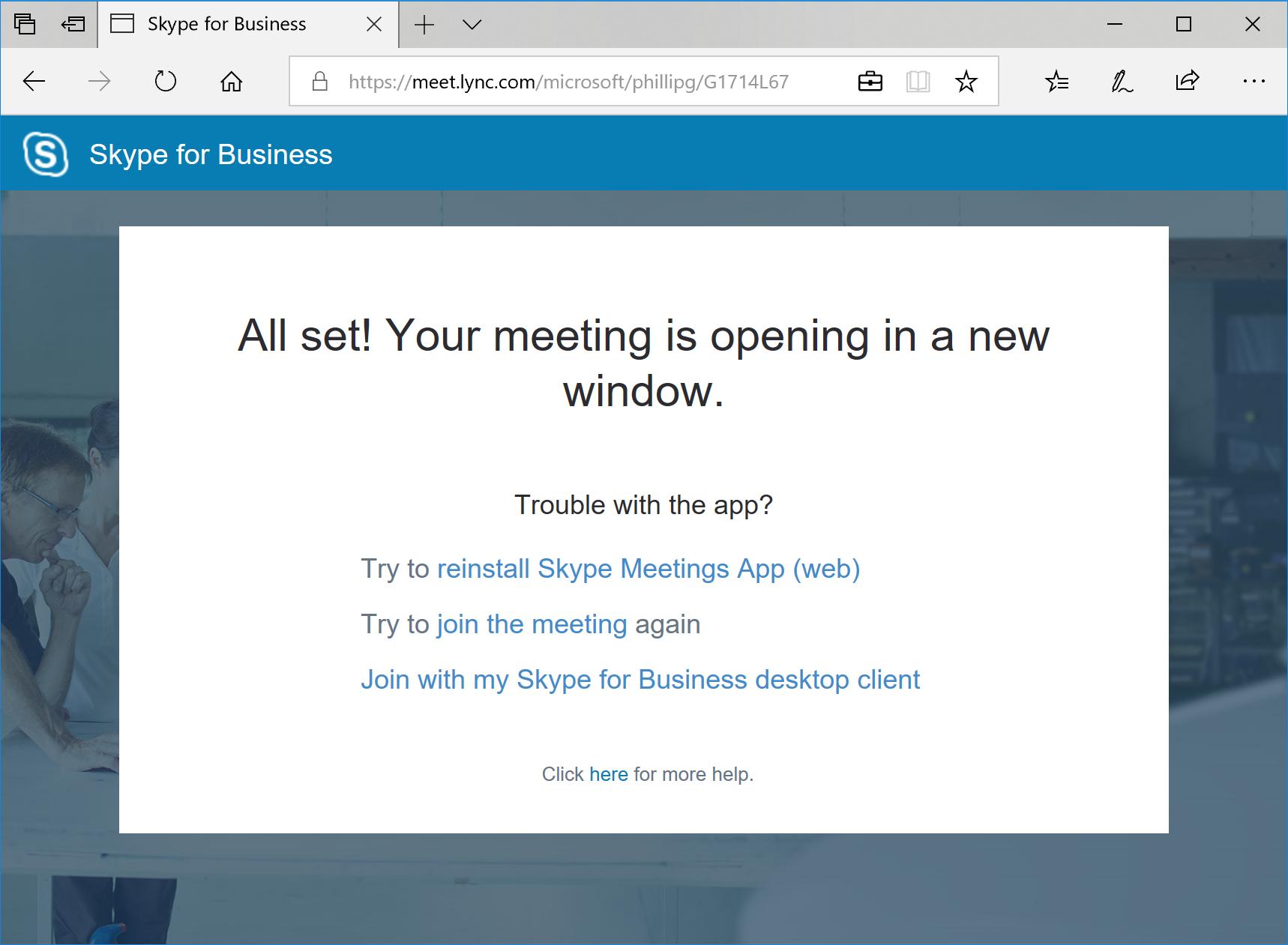 Skype Meetings App improvements on their way - Microsoft