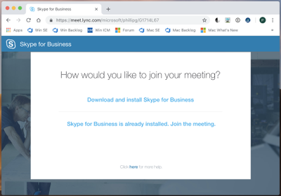 How would you like to join your meeting? web page