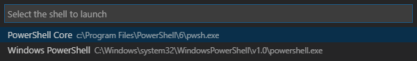 Configure Visual Studio Code to run PowerShell for Windows and PowerShell Core Simultaneously