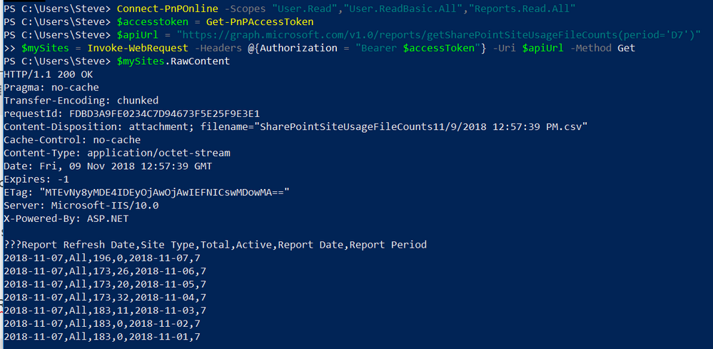 Microsoft Graph and PowerShell - extracting the data into