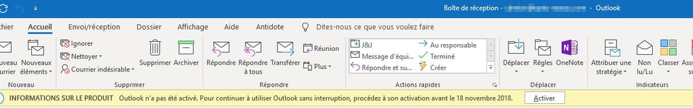 Office 2016 suddenly prompting to ''Activate''  The Office 365 user