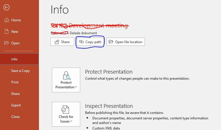 Open in client application when sharing link - Microsoft