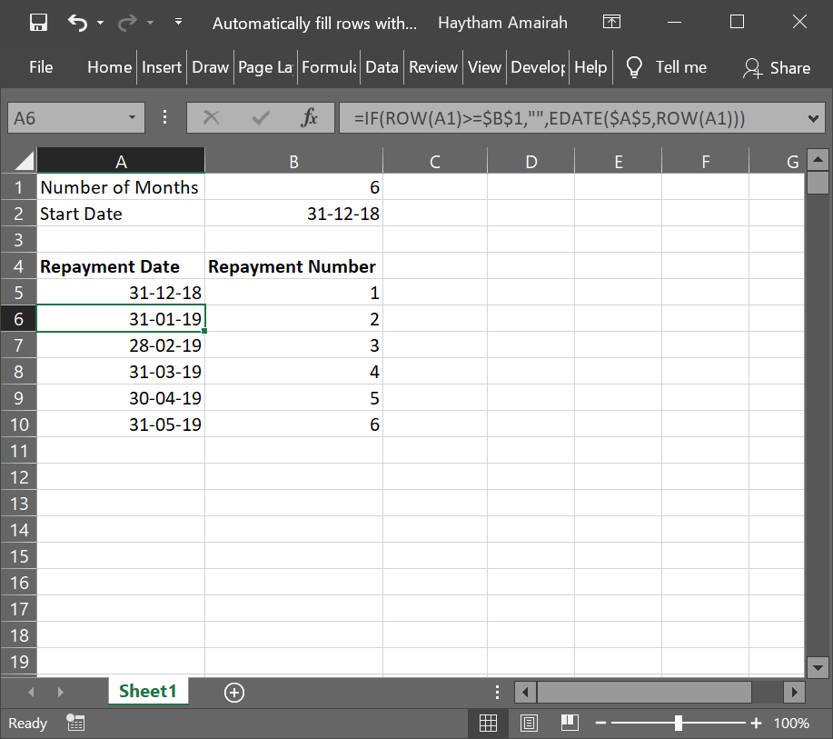 Automatically fill rows with dates based on cell value #2.png
