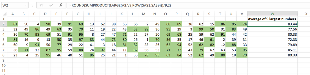 Get the largest numbers and view them using a conditional formatting rule.png