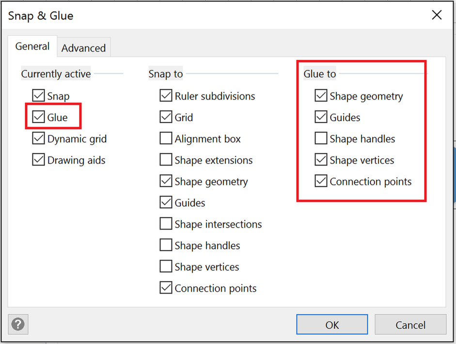 Snap-and-Glue-Settings