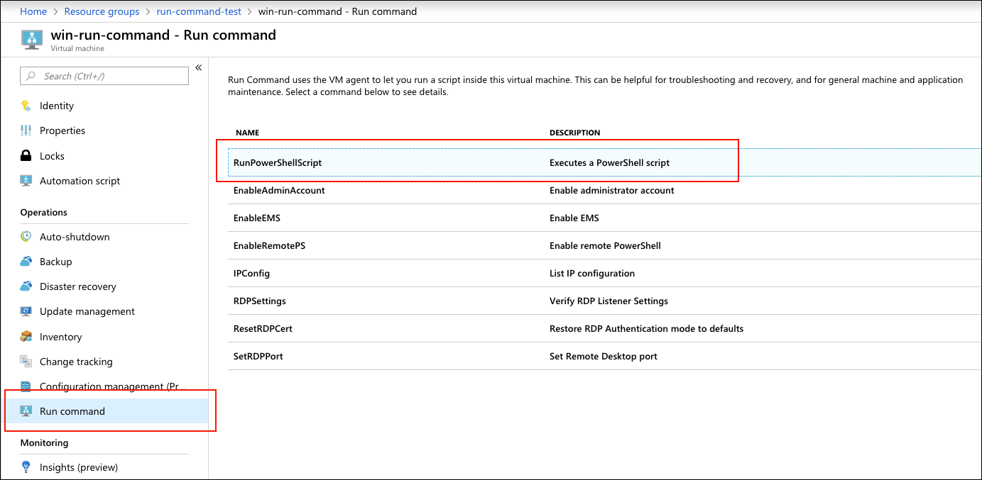 How to Run scripts on Azure Virtual Machines with the Run