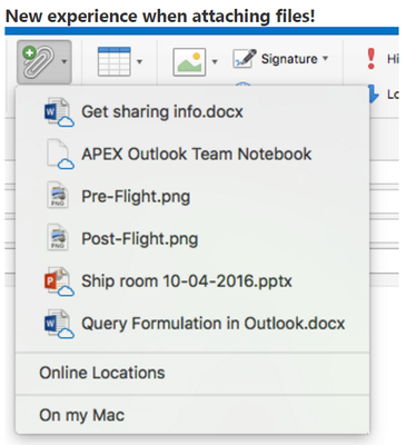 Outlook 2016 for Mac gets Modern Attachments - Microsoft
