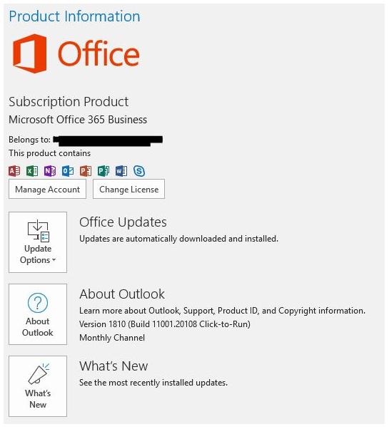 Office Version Info