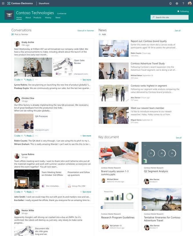 Add a fully-interactive Yammer conversations to SharePoint page and news articles.