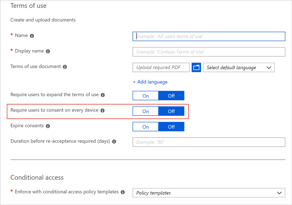 Updates to Azure AD Terms of Use functionality within conditional access