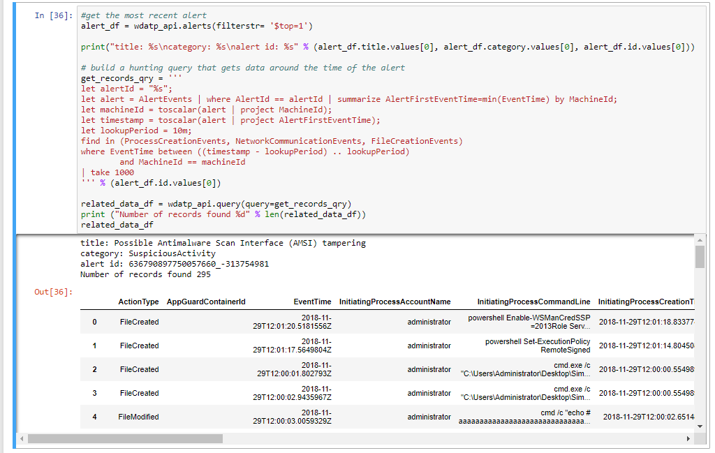 Automating Security Operations Using Windows Defender ATP APIs with