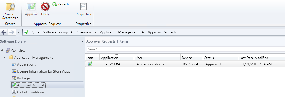 Application approval improvements in ConfigMgr 1810