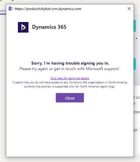 Teams and Dynamic365 preview app - Microsoft Tech Community