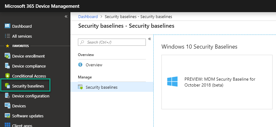 Microsoft Intune introduces MDM Security Baselines to secure the