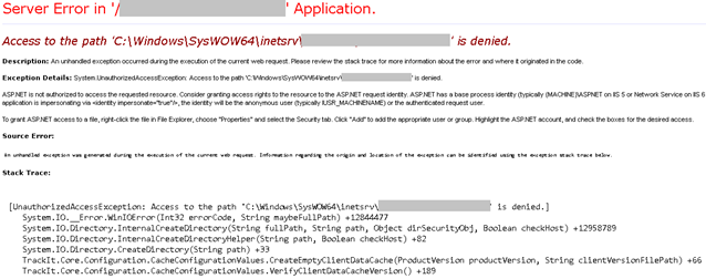 """Solution for """"Access to the path inetsrv is denied"""" error"""