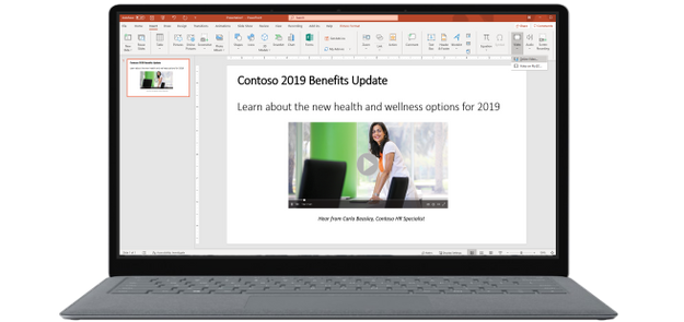 Embed Stream videos in PowerPoint