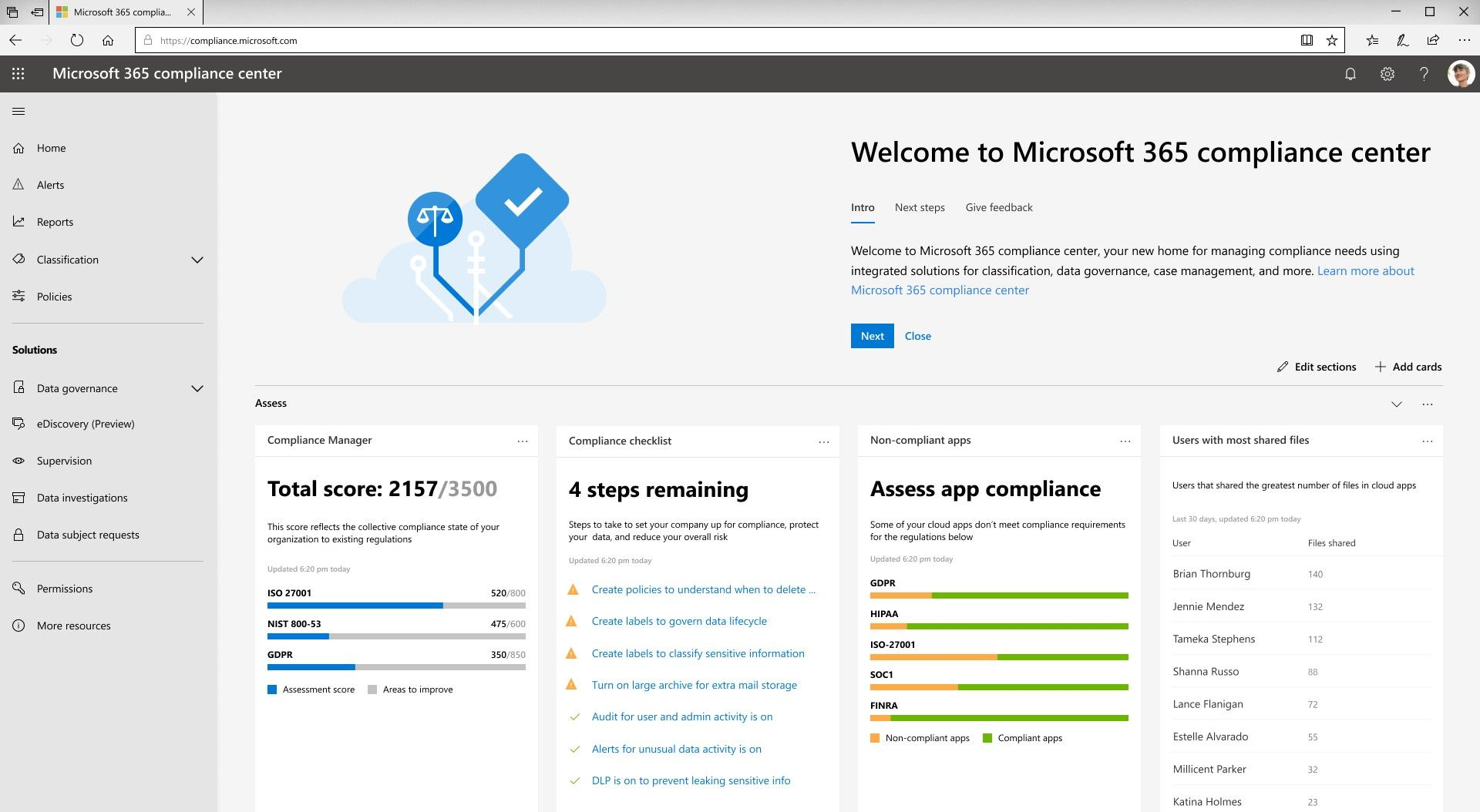 Introducing the new Microsoft 365 security center and