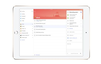 See your lists and tasks in one view